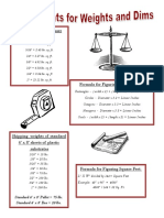 Weights Dims Document