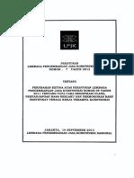 Peraturan LPJK Nomor 7 Tahun 2013