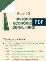 Aula10 HEG 1ªdepressão 1ªguerra