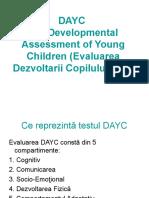 DAYC-Evaluarea Dezvoltarii Copilului Mic