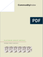 Commodity Index PGM Facts Brochure