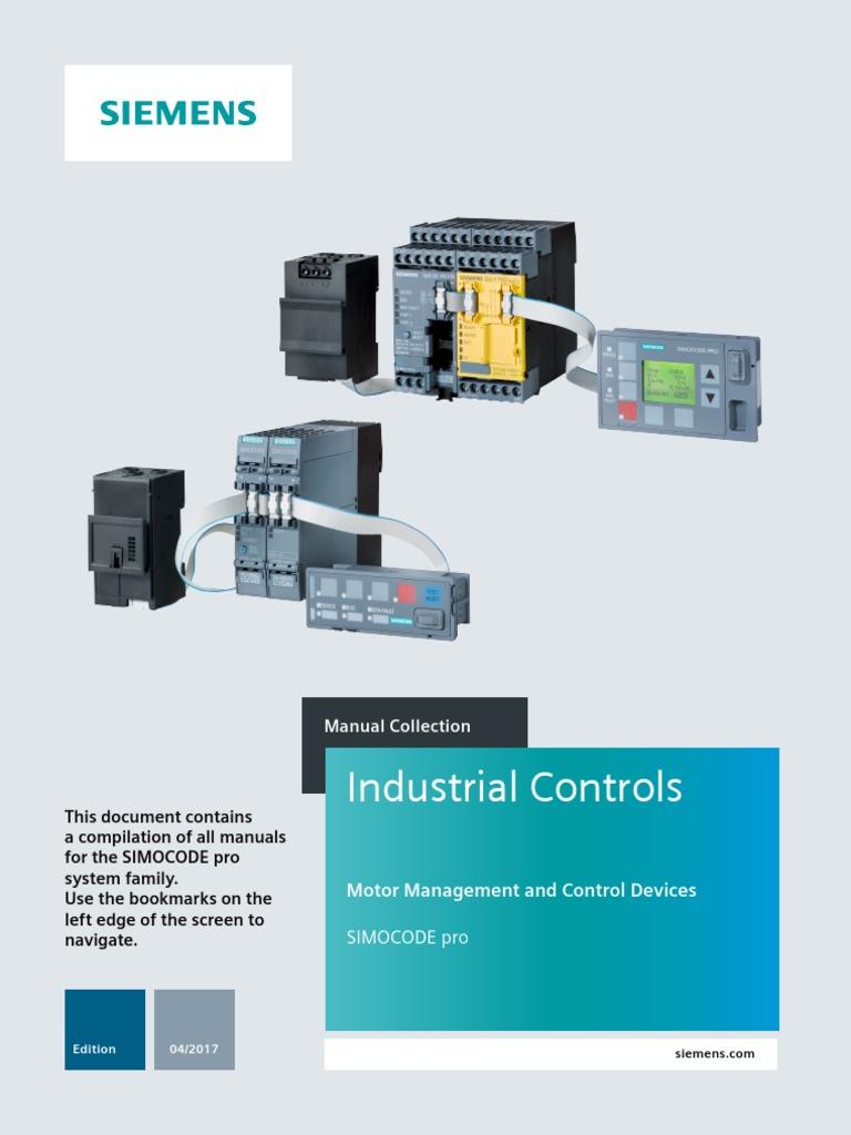 Manual Collection Simocode Pro En 201704211335338819 Ac Power Siemen Actuators Valve Wiring Diagram 289 Plugs And Sockets Securities