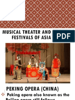 Musical Theater and Festivals of Asia