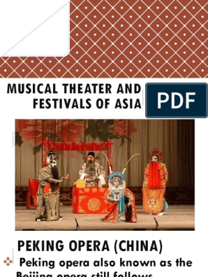 Musical Theater and Festivals of Asia | Oral Literature