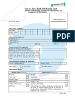 SBI NRI Family Card application form