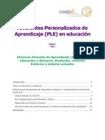 Módulo 1 - PLE -  Ambientes personalizados de Aprendizaje en Educación.