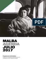 Agenda Malba Julio 2017