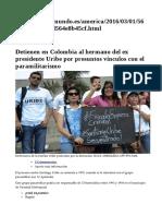 Hermano de Uribe Es Paraco También