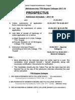 DEGREE Prospectus 2017-18