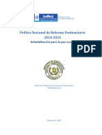 Politica de Reforma Penitenciaria de Guatemala