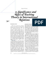 Guzzini_2001 - The Significance and Roles of Teaching Theory in International Relations