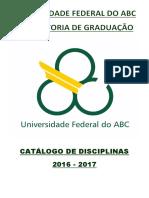Catalogo Disciplinas de Graduacao (2016 2017)