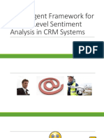 Multi-Agent Framework for Aspect Level Sentiment Analysis in CRM Systems