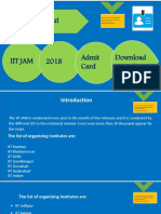 IIT JAM 2018 Notification & Admit card download Procedure