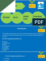 IIT JAM 2018 Notification & Admit card download Procedure