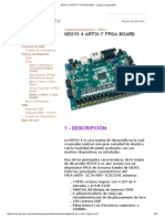 Hoja de datos de Tarjeta FPGA NEXYS 4