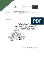 Modulo Estrategias de Aprendizaje - FACENA 2013