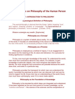 Compiled Notes on Philosophy of the Human Person