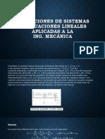 Aplicaciones de Sistemas de Ecuaciones Lineales Aplicadas 1