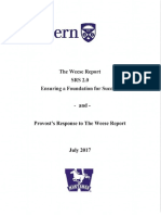 Weese Report and Provosts Response