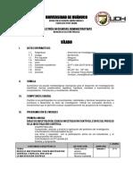 Sílabo Seminario de Investigación 2017-I, Escuela de Postgrado (Universidad de Huánuco)