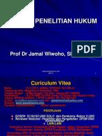 Metode Penelitian Hukum Prof Dr Jamal Wiwoho, SH, M.hum.