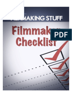 Filmmaking Checklist Filmmaking Stuff