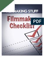 Filmmaking Checklist Filmmaking Stuff