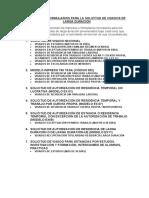 IMPRESOS Y FORMULARIOS VISADOS DE LARGA DURACIÓN