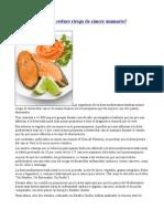 Dieta Mediterranea Reduce Riesgo de Cancer Mamario
