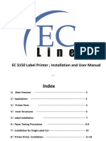 EC 3150 Label Printer (Win7 32bit)- Instruction