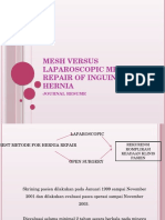Mesh Versus Laparoscopic Mesh Repair of Inguinal Hernia