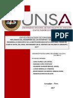 """""""INFLUENCIA DEL DESEMPEÑO DE LOS DOCENTES Y ESTUDIANTES EN EL DESARROLLO EDUCATIVO DE LA INSTITUCIÓN EDUCATIVA SANTISIMA VIRGEN DE CHAPI Nº 40190, DEL NIVEL SECUNDARIO EN EL DISTRITO DE POLOBAYA-AREQUIPA, 2017"""""""