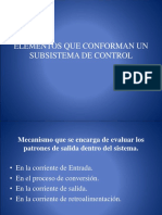 Elementos Que Conforman Un Subsistema de Control-ppt-2003