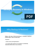 backuprecoveryinwindows-130127041320-phpapp01
