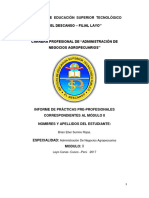 Informe de Practicas II Modulo 2017