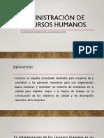 Administracion de Recursos Humanos.