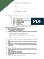 Temario de Evaluacion Para Agente Fiscal