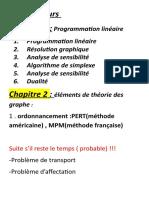 Recherche Operationnelle s1