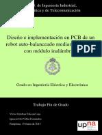 Memoria TFG Diseño e Implementación en PCB de Un Robot Auto-balanceado Mediante Arduino Con Módulo Inalámbrico