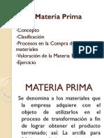 2. Materia Prima