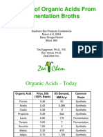 Recovery of Organic Acids From Fermentation Broths