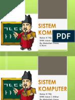 Materi Sistem Komputer x(3)