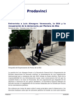 Entrevista a Luis Almagro Venezuela La Oea y La Recuperacion de La Democracia Por Mariano de Alba