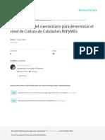 ART CIENT Construcción Del Cuestionario Para Determinar El Nivel de Cultura de Calidad en Mipymes