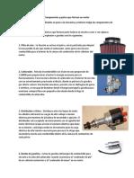 Componentes y Partes Que Forman Un Motor