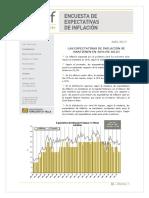 Expectativa Inflacion Julio 2017