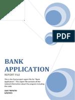 Bank C++ Programme
