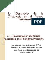 3.1.- Desarrollo de La Cristología en El NT