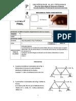 Examen Final Mecanica Para Ingenieros